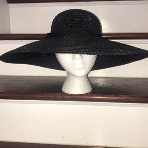 Vintage Italian Straw Handwoven large Brim Hat
